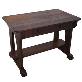 Antique Mission Oak Library Table