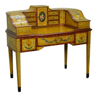 Hand Painted Adams Style Carlton House Desk