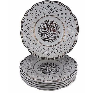 Wedgwood Gold Lustre Plates - S/6