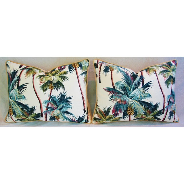 Designer Tropical Coconut Palm Tree Pillows - Pair - Image 3 of 10