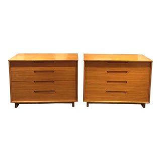 Milo Baughman Drexel 4 Drawer Chests- a Pair