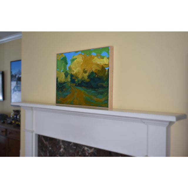 Walking in a Yellow Wood  Autumn Landscape Acrylic Painting by Stephen  Remick   Image. Walking in a Yellow Wood  Autumn Landscape Acrylic Painting by