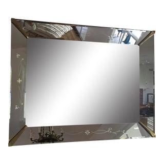 Art Deco Etched Design Mirror