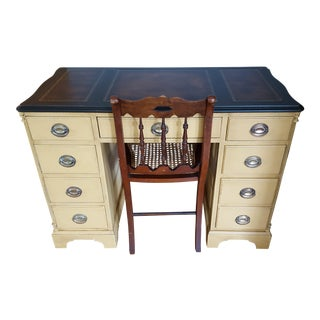 Federal Desk, Mahogany & Chair, 1950 - A Pair
