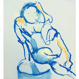 Blue Nude II Original Drawing