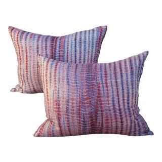Thai Homespun Tribal Pillows - Pair
