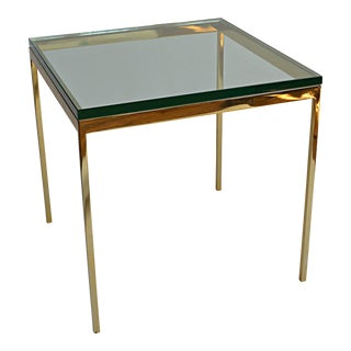 Brueton Modernist Style Brass and Glass End Table