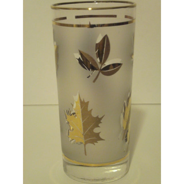 Gold Leaf Pattern Barglasses - Set of 12 - Image 5 of 7