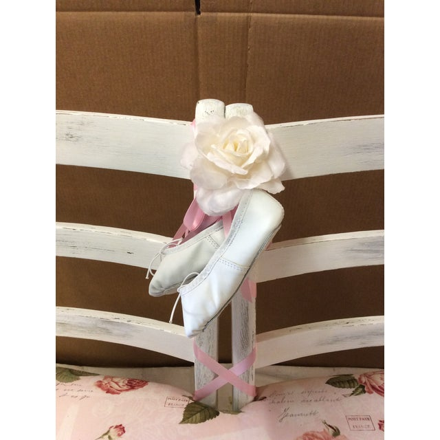Custom Floral Ballerina Bench - Image 3 of 6