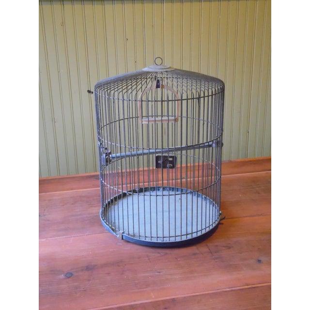 Vintage Metal Bird Cage - Image 2 of 5