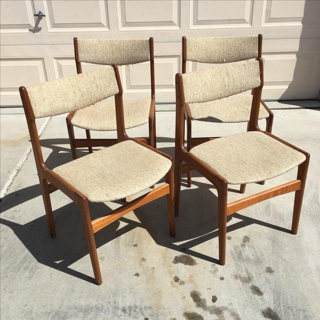 Image of Mid-Century Modern Danish Dining Chairs - Set of 4