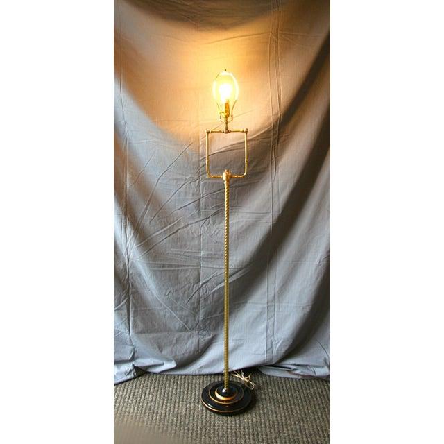 Modern Brass Floor Lamp - Image 5 of 10