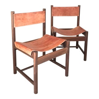Mikel Arnoult Danish Mid-Century Sling Chairs Vintage - A Pair