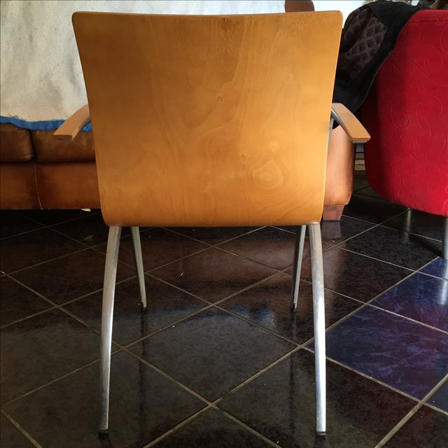 Image of Davis Furniture Industries Brown Chairs - A Pair