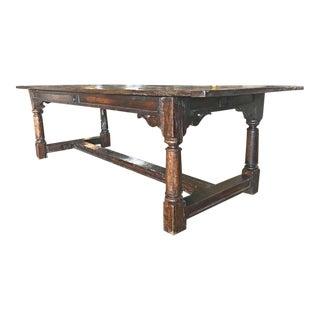 Antique Oak Farm Table, circa 1850
