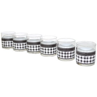Georges Briard Plaid Tumblers - Set of 6