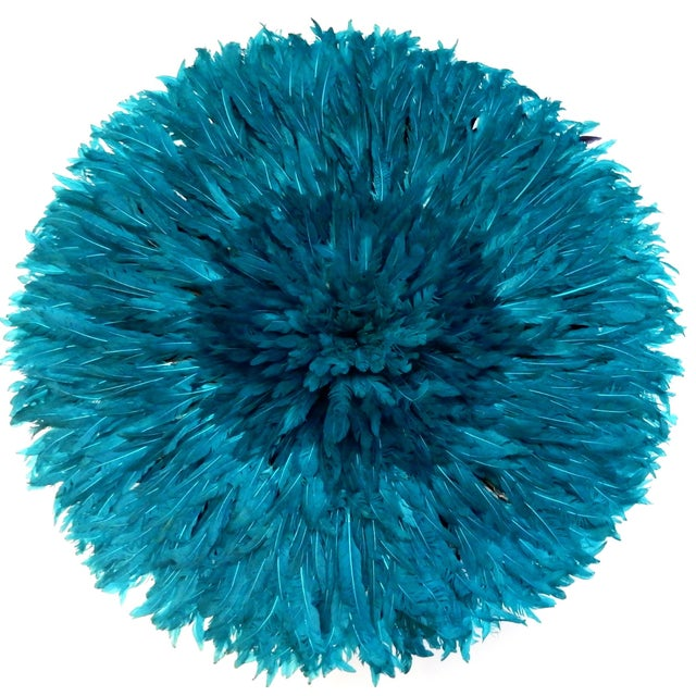 Ceremonial Turquoise Juju Hat Wall Hanging - Image 1 of 7