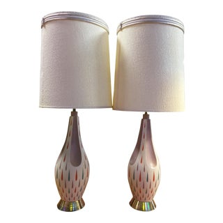 Mid-Century Colorful Faip Table Lamps - A Pair
