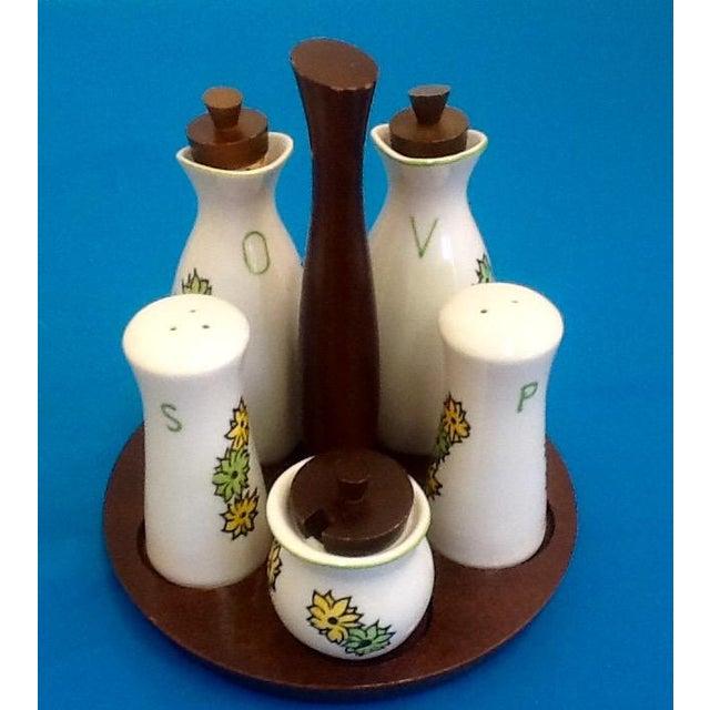 Mid-Century Atomic Style Oil & Vinegar Set - Image 2 of 4