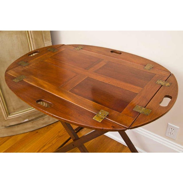 Image of Antique Bar Height British Butler's Tray