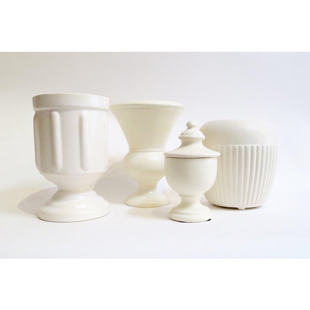 White Ceramic Vessels- Set of 4 - Image 2 of 5