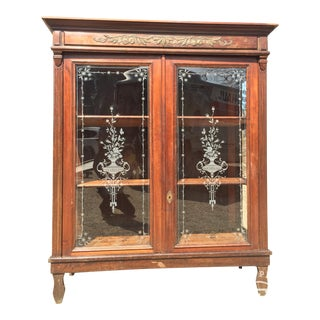 Etched Glass China Cabinet