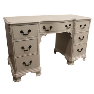 French Country White Chalk Painted Vanity Desk