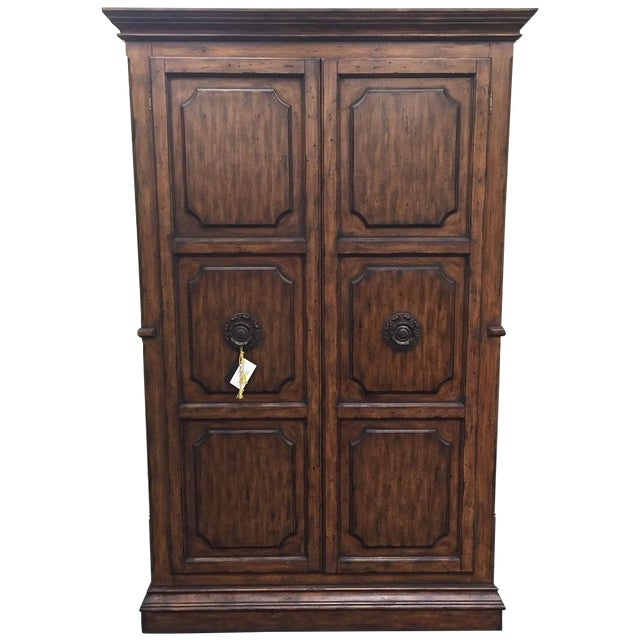 Ital Art Design Wine Armoire with Marble Table - Image 1 of 11