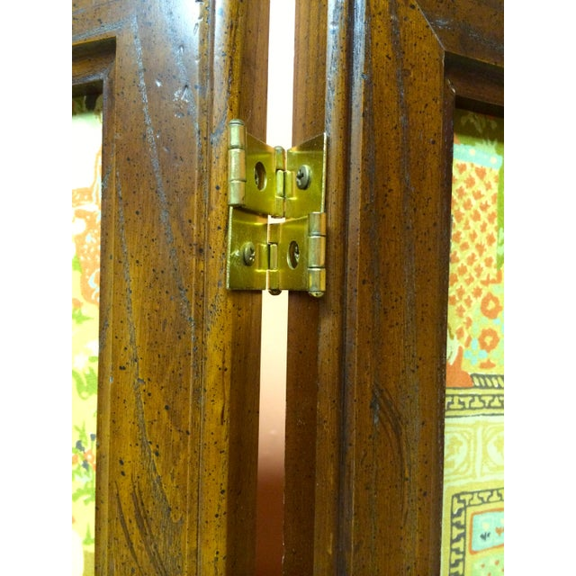 Large Vintage Fabric Room Divider - Image 6 of 6