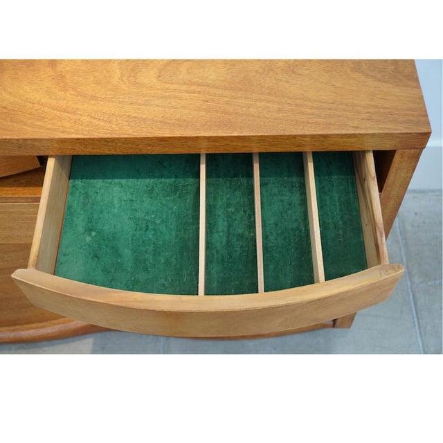 Teak Bow Front Cabinet - Image 6 of 7