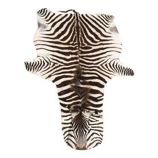 Authentic Vintage Zebra Rug - 4′4″ × 7′