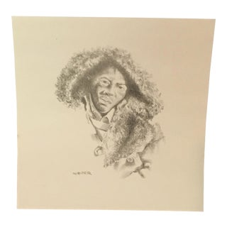 Signed Charles Criner Lithograph Print