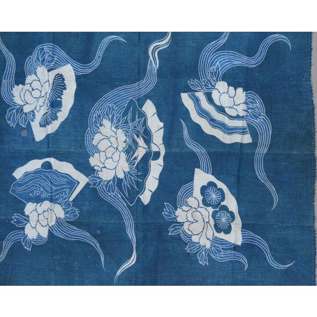 Antique Japanese Indigo Tsutsugaki Cloth - Image 2 of 6