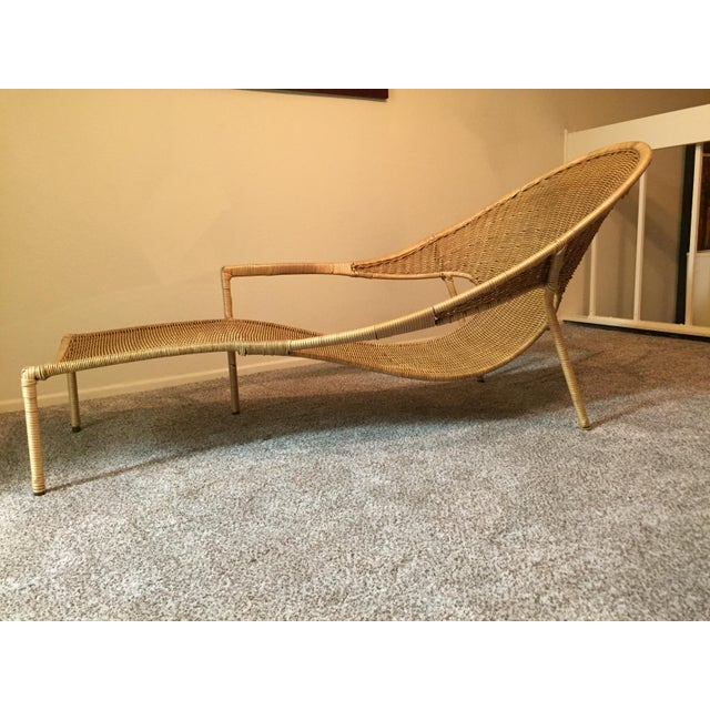 1950s Scarce Francis Mair Mid-Century Modern Rattan Low Slung Lounge Chair - Image 6 of 8
