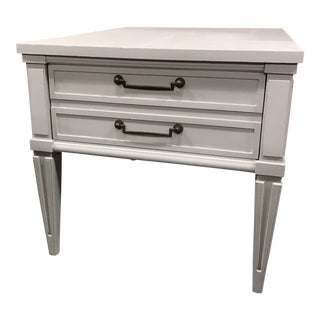 Painted Grey End Table