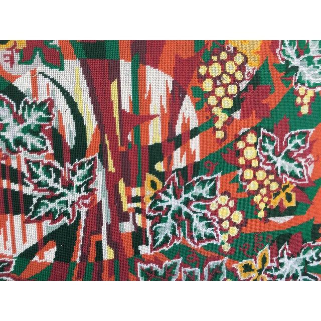 Colorful Jungle Inspired Needlepoint - Image 5 of 6