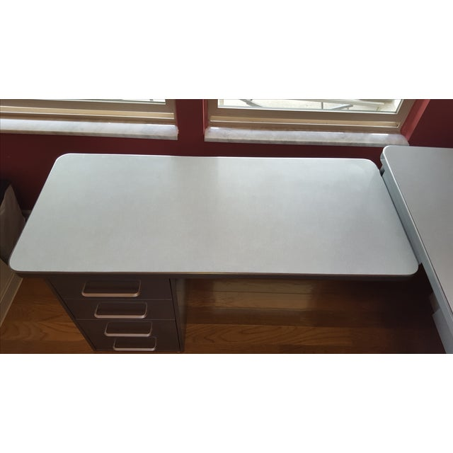 Steelcase Tanker Desk with Return - Image 9 of 9
