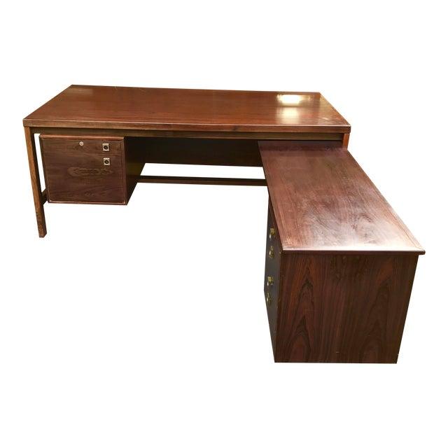Arne Vodder Executive Rosewood Desk - Image 1 of 5