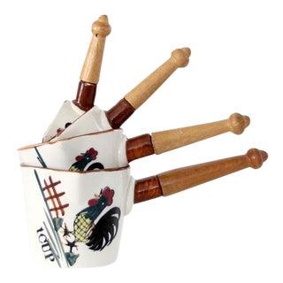 Mid-Century Ceramic Measuring Cups - Set of 4