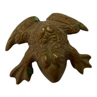 Vintage Brass Frog Figurine
