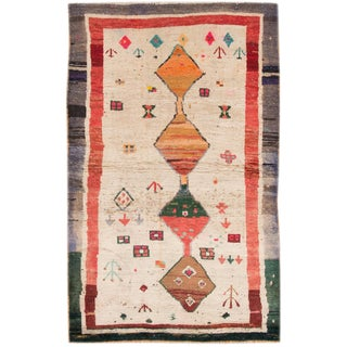 "Apadana - Vintage Persian Shiraz Rug, 3'5"" x 5'9"""