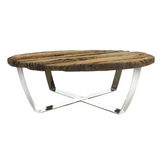 Keaton Railroad Center Table with Rustic Top