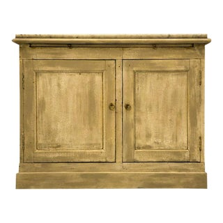 Antique French Two Door Pastry Counter With Marble