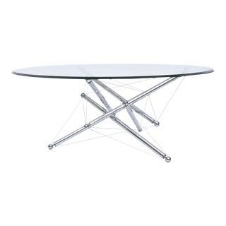 Italian Modern Chromed Steel and Glass Center Table, Theodore Waddell, Cassina