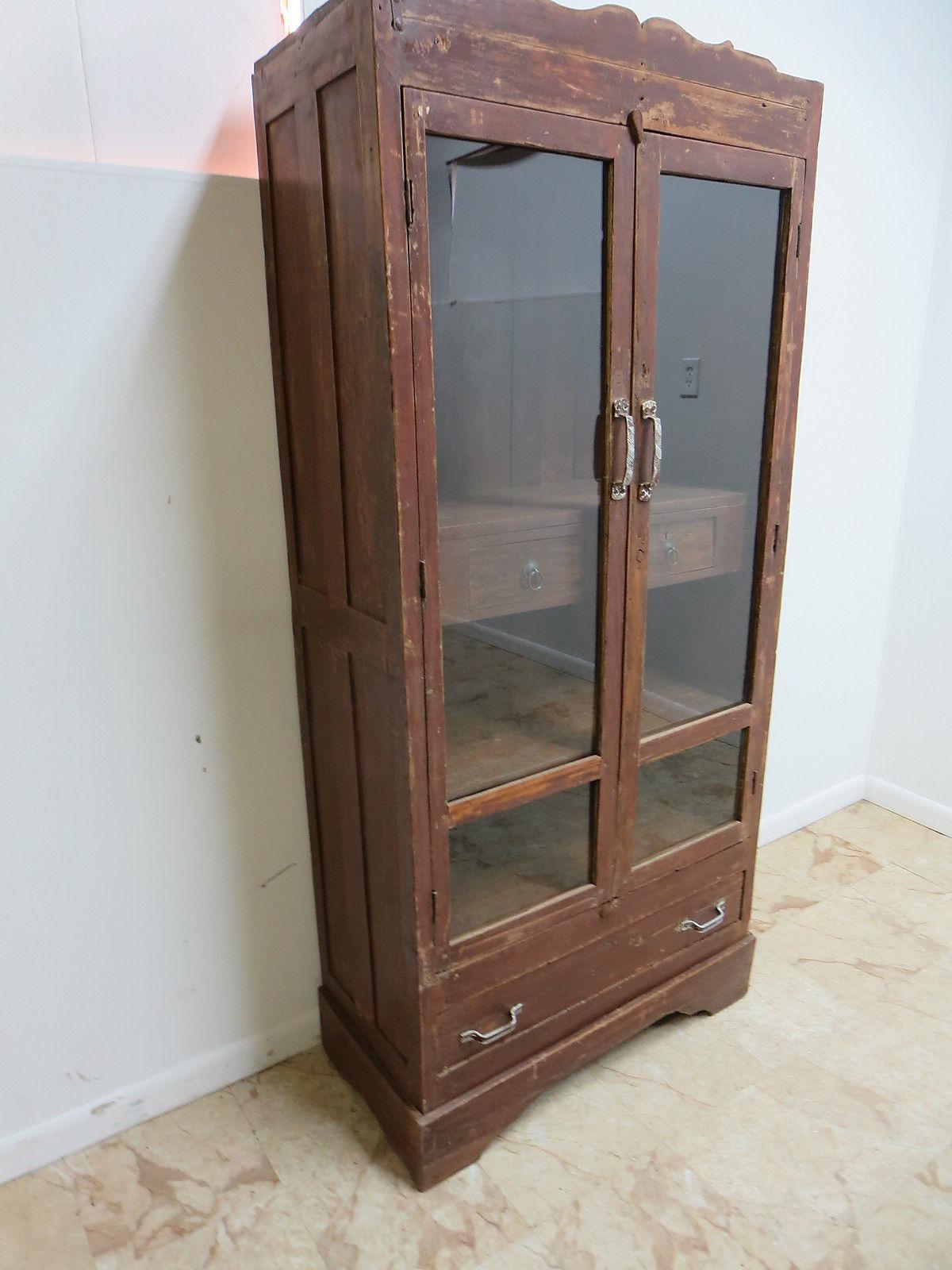antiqued kitchen cabinets antique primitive architectural salvage hutch door china 1303
