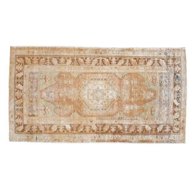 "Distressed Oushak Rug - 4' x 7'4"" - Image 1 of 6"