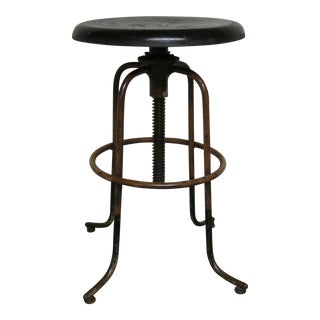 Vintage Steeline Adjustable Industrial Stool
