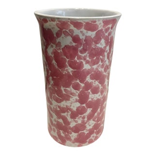 Pink Sponge-Ware Kitchen Utensils Holder