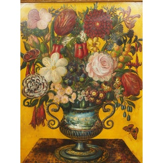 19c Theorem Painting of a Floral Arrangement