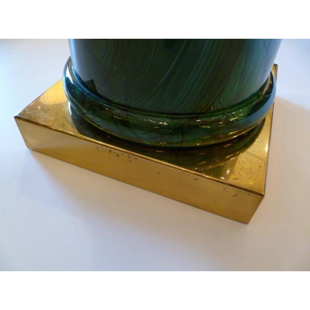 Sleek Modern Classic Malachite Column Side Table - Image 7 of 8